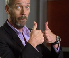 dr house thumbs up