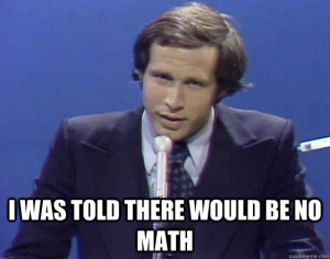 chevy chase no math