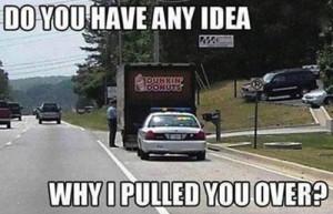 Cop Pulls Over Donut Truck