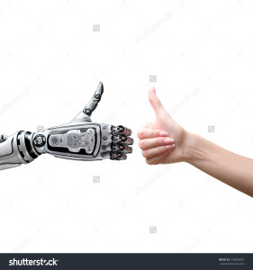 robot arm thumbs up